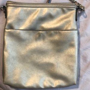 Nicole by Nicole Miller Bags - Nicole Miller silver crossbody bag